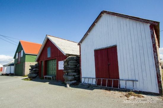 Some buildings along the harbor or Ølberg Havneveg