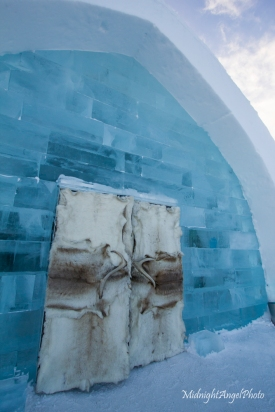 The entrance to the Ice Hotel