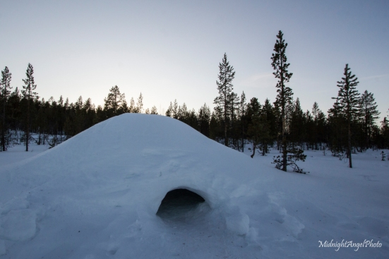 A little igloo near the cabin