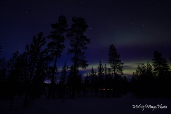 The Aurora on the first night at the cabin