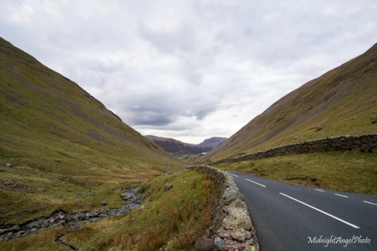 Driving through Kirkstone Pass in the Lake District